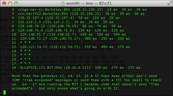 man traceroute