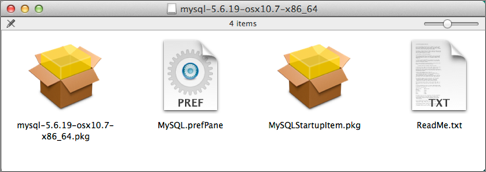 MySQL installer files