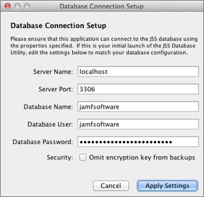 Database Connection Setup