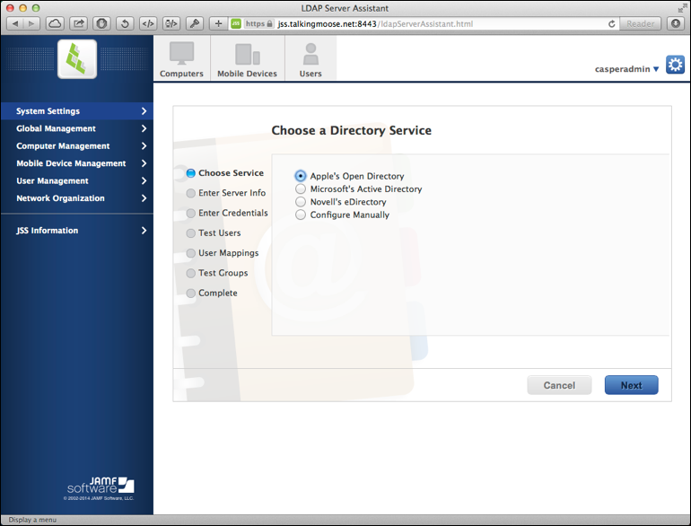 Choose a directory service