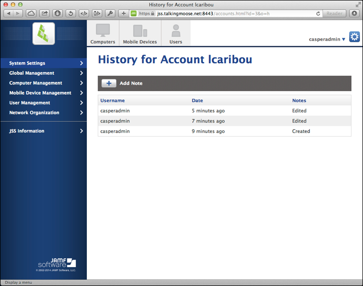 lcaribou account history